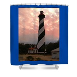 Da127 St. Augustine Lighthouse By Daniel Adams Shower Curtain