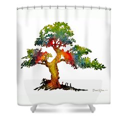 Da140 Rainbow Tree Daniel Adams Shower Curtain