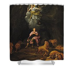 Daniel In The Den Of Lions Oil On Canvas Shower Curtain