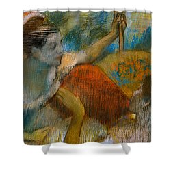 Danseuse A L'eventail Shower Curtain by Edgar Degas