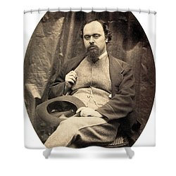 Dante Gabriel Rossetti English Poet Shower Curtain by Photo Researchers