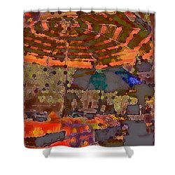 Dappled Sun Shower Curtain by Miriam Danar