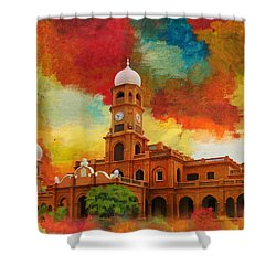 Darbar Mahal Shower Curtain by Catf