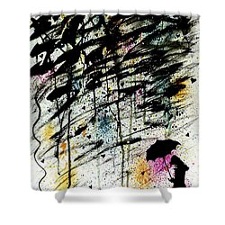 Shower Curtain featuring the painting Dare 2 B Different by Oddball Art Co by Lizzy Love