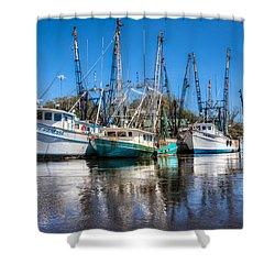 Darien Harbor Shower Curtain by Debra and Dave Vanderlaan