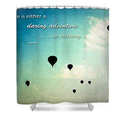 Shower Curtain featuring the photograph Daring Adventure Hot Air Balloons by Eleanor Abramson