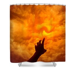 Dare To Reach Higher Shower Curtain