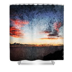 Dark Angel Shower Curtain by Stelios Kleanthous