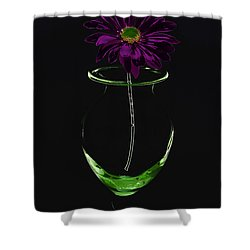 Dark Bloom Shower Curtain by Swank Photography