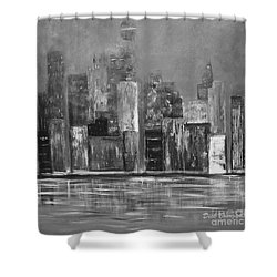 Dark Clouds Over The City Shower Curtain