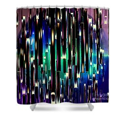 Dark Crystals Shower Curtain by Greg Moores