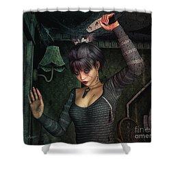 Dark Fantasies Shower Curtain by Jutta Maria Pusl