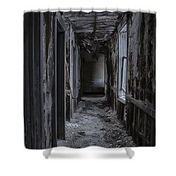 Dark Halls Shower Curtain by Margie Hurwich