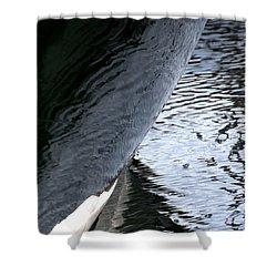 Dark Hull Shower Curtain by Newel Hunter