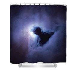 Dark Nebula Cloud  Shower Curtain by Jennifer Rondinelli Reilly - Fine Art Photography