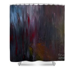 Dark Rain Shower Curtain