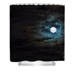Dark Rising Shower Curtain by Andrew Paranavitana