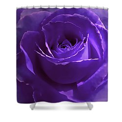 Dark Secrets Purple Rose Shower Curtain