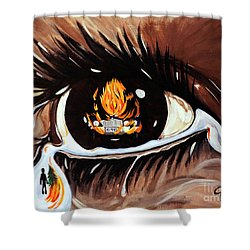 Dark Sorrow  Shower Curtain by Jackie Carpenter