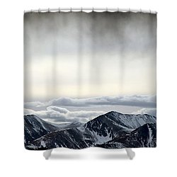 Dark Storm Cloud Mist  Shower Curtain by Barbara Chichester