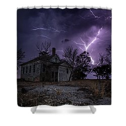 Dark Stormy Place Shower Curtain