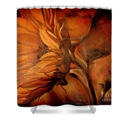 Dark Sunflower Shower Curtain