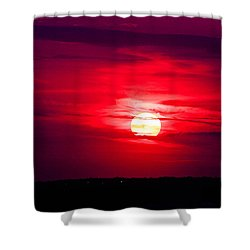 Dark Sunset Shower Curtain by Julie Andel