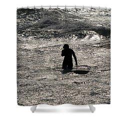 Shower Curtain featuring the photograph Dark Surf by Tara Lynn