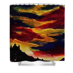 Dark Times Shower Curtain by Anastasiya Malakhova