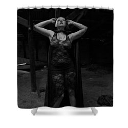 Shower Curtain featuring the photograph Dark Witch's Yearning by Mez