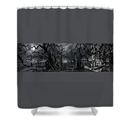 Darkness Has Crept In The Midnight Hour Shower Curtain by James Christopher Hill