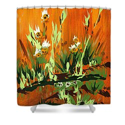 Shower Curtain featuring the painting Darlinettas by Holly Carmichael