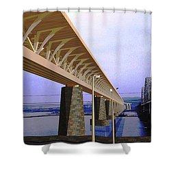 Darnitsky Bridge Shower Curtain