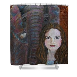 Darra  Little Angel Of                                    Feminine Wisdom And Understanding Shower Curtain by The Art With A Heart By Charlotte Phillips
