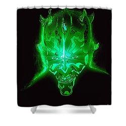 Darth Maul Green Glow Shower Curtain
