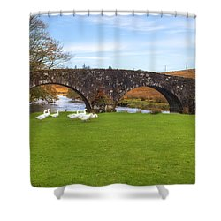 Dartmoor - Two Bridges Shower Curtain by Joana Kruse