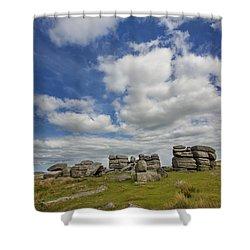 Dartmoor Tor Shower Curtain