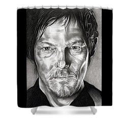 Daryl Dixon - The Walking Dead Shower Curtain by Fred Larucci