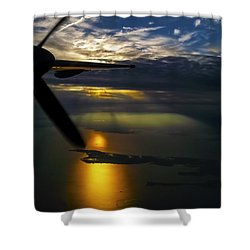 Dash Of Sunset Shower Curtain