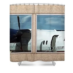 Dash Reflection Shower Curtain