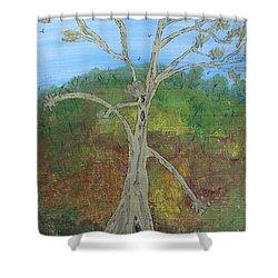 Dash The Running Tree Shower Curtain