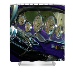 Shower Curtain featuring the photograph Dashboard Glam by Christiane Hellner-OBrien