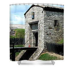 Dauphin Battery And Gate Of The Five Nations Old Fort Niagara 2 Shower Curtain by Rose Santuci-Sofranko