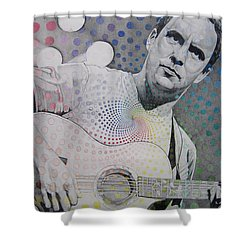 Dave Matthews All The Colors Mix Together Shower Curtain by Joshua Morton