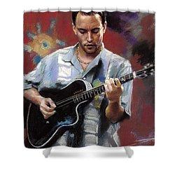 Dave Matthews Shower Curtain by Viola El