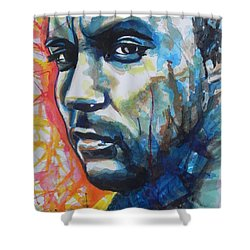 Dave Matthews Shower Curtain by Chrisann Ellis