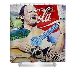Dave Matthews Seek Up Shower Curtain by Joshua Morton