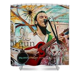 Dave Matthews Shotgun Shower Curtain by Joshua Morton