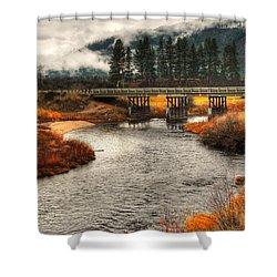Daveys Bridge Shower Curtain by Sam Rosen