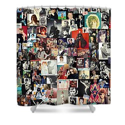 David Bowie Collage Shower Curtain